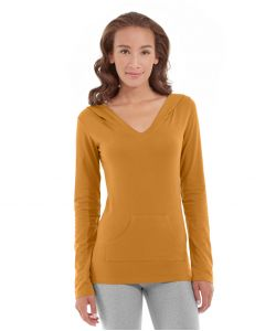 Eos V-Neck Hoodie-XS-Orange